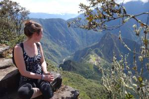 overlooking Machu Picchu Peru